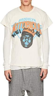 "Madeworn Men's ""Brooklyn Notorious"" Distressed Cotton T-Shirt"