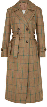 BEIGE Giuliva Heritage Collection - Christie Checked Wool Trench Coat