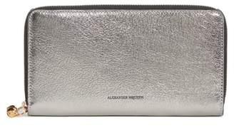 Alexander McQueen Metallic Leather Continental Wallet