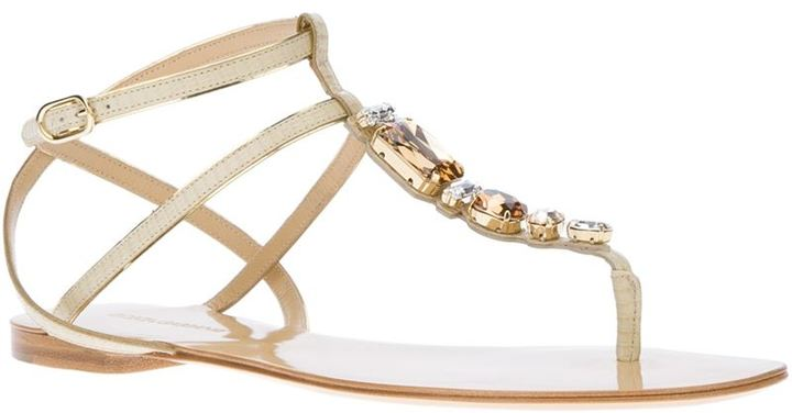 Dolce & Gabbana jewel embellished sandal