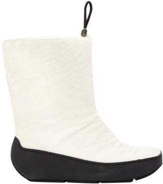 Prada White Pony-style calfskin Boots
