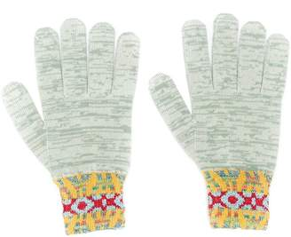 Missoni pattern knit gloves