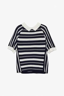 Genuine People Retro Striped Collared Shirt