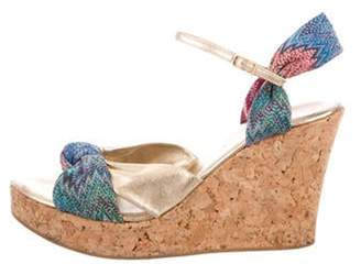 Missoni Knit Wedge Sandals Green Knit Wedge Sandals