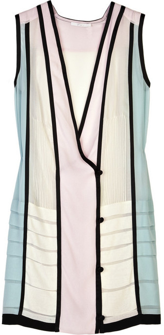 Phi Silk sleeveless wrap dress