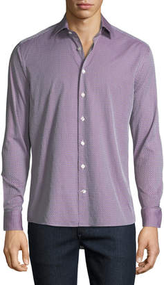 Etro Men's Textured Cotton Sport Shirt