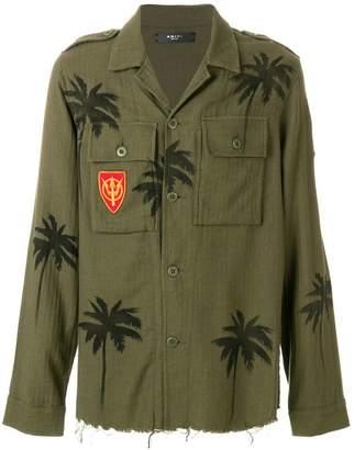 Amiri palm tree military jacket