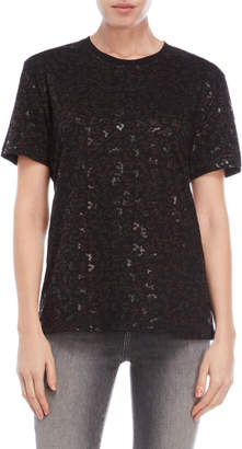 The Kooples Sport Burnout Foil Print Tee