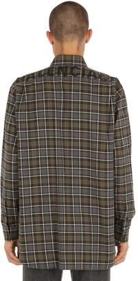 Balenciaga Logo Printed Flannel Check Shirt