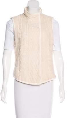 St. John Wool Cable Knit Vest