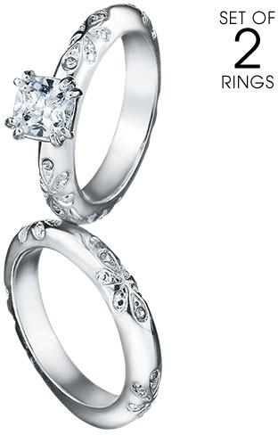 Avon Paradise Bliss 2-Piece CZ Engagement Ring and Band Set