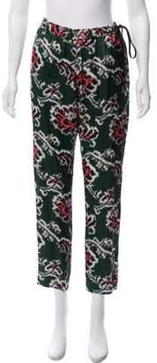 Dries Van Noten Printed High-Rise Pants