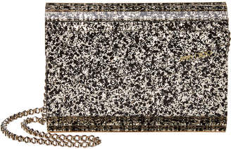 Jimmy Choo Candy Coarse Glitter Acrylic Envelope Clutch