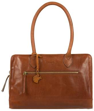 f1ab4a8e32a3 at Debenhams · Conkca London - Conker Brown  Mona  Handcrafted Leather Hand  Bag