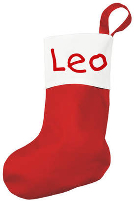 Traditional Red Christmas Stocking Font: Copperplate Gothic Bold BT
