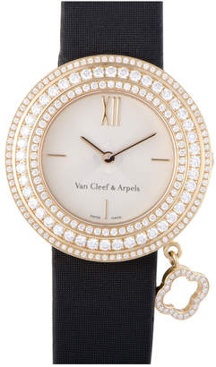 Van Cleef & Arpels Heritage  Women's Satin Diamond Watch