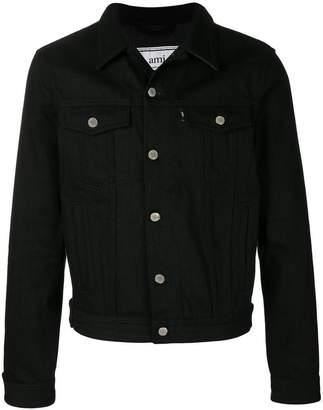 Ami Alexandre Mattiussi Bi Material Denim Jacket