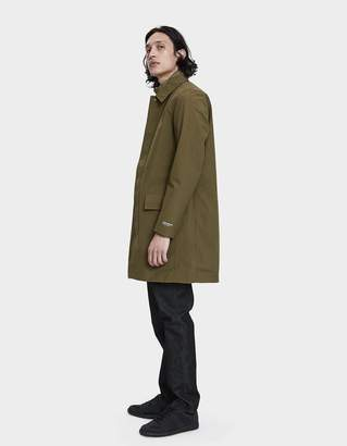 Norse Projects Thor Gore-Tex Overcoat in Sitka Green