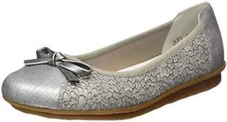 Rieker 43952, Women's Ballet Flats, Grey (metallic/90), (37 EU)
