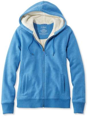 L.L. Bean L.L.Bean Sweater-Trimmed Sherpa-Lined Hoodie