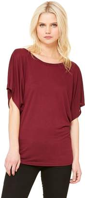 B.ella + Canvas Ladies' Flowy Draped-Sleeve Dolman T-Shirt
