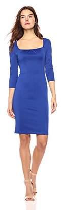 Wild Meadow Women's 3/4 Sleeve Dress with Square Neckline XS