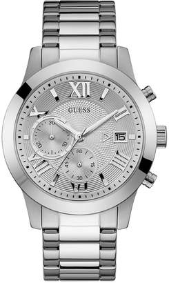 GUESS Men Chronograph Stainless Steel Bracelet Watch 45mm