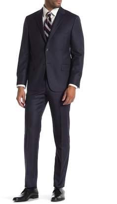 Hickey Freeman Birdseye Two Button Notch Lapel Wool Classic Fit Suit