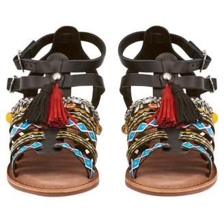 GIOSEPPO Black Leather Sandals