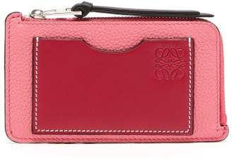 Loewe Gate Leather Cardholder - Womens - Pink