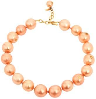Chanel Vintage Pink Metal Necklace