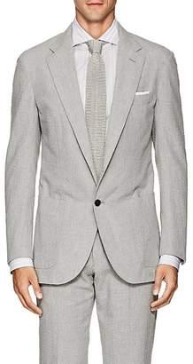 P. Johnson Men's Cotton Seersucker Two-Button Sportcoat