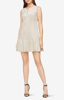 BCBGMAXAZRIA Adelene Faux-Suede Dress