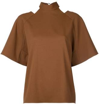 Tibi Chalky draped top