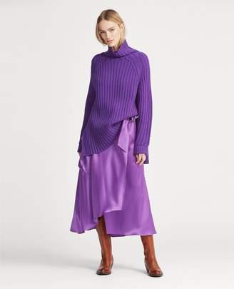 Ralph Lauren Cargo Satin Wrap Skirt