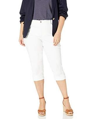 NYDJ Women's Size Plus Marilyn Crop Cuff Jean in Cool Embrace Denim