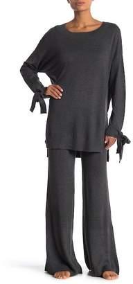 Shimera Rib Knit Flare Sweatpants