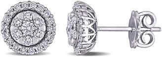 Diamond Select Cuts 14K 0.77 Ct. Tw. Diamond Halo Studs