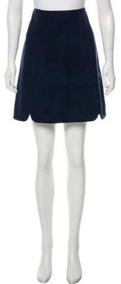 Longchamp Suede Mini Skirt