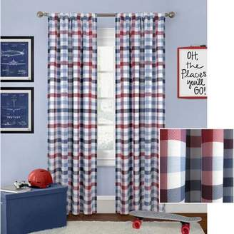 Better Homes & Gardens Better Homes and Gardens Checked Plaid Curtain Panel