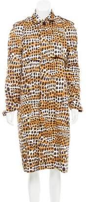 Celine Printed Long Coat