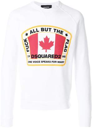 DSQUARED2 Canadian flag patch sweatshirt