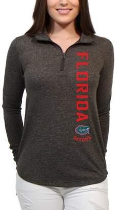 NCAA Florida Gators Cascade Text Women's/Juniors Team Long Sleeve Half Zip Shirt