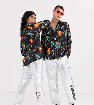 Collusion COLLUSION Unisex metallic jogger with placement prints