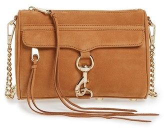 Rebecca Minkoff 'Mini Mac' Convertible Crossbody Bag - Brown $195 thestylecure.com