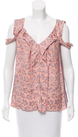 Marc Jacobs Marc Jacobs Sleeveless Floral Print Top