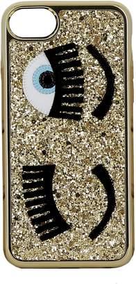 Chiara Ferragni Gold Glitter Cover
