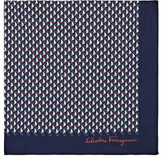 Salvatore Ferragamo Men's Nautical-Motif Cotton Pocket Square