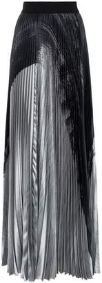 Poiret high-waisted pleated maxi skirt