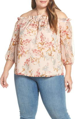 Vince Camuto Wildflower Off the Shoulder Top